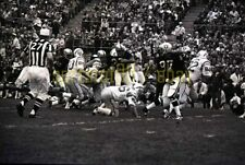 1970 SD Chargers @ Oakland Raiders - Acton Shot - Vtg NFL Football Negative