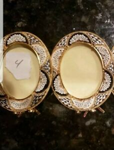 Italian Micro Mosaic Picture Frame Filippini and Paoletti beige lot of 2 #4