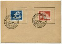 GERMANY DDR #68-69 Mannsfeld Copper Mines 750th Anniversary Cover Postage 1950