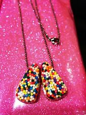 Candy Sprinkle Necklace HANDMADE Kawaii Pastel Goth ONE OF A KIND!
