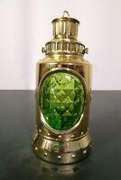 "Vtg Avon ""Island Lime""/""Casey's Lantern"" Aftershave Lotion Bottle/6 3/4"" H Empty"