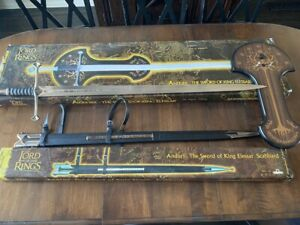 RARE - LOTR - United - Anduril, The Sword of King Elessar w/ Scabbard