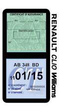 Porte vignette assurance RENAULT CLIO WILLIAMS double étui voiture Stickers auto