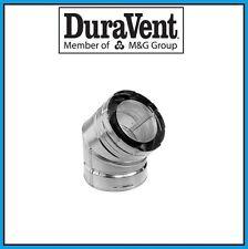 """DURAVENT DirectVent Pro 4"""" x 6-5/8"""" Galvanized 45 Degree Elbow #46DVA-E45"""