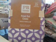 2 Pottery Barn Teen Petal Dot purple standard pillowcases  New