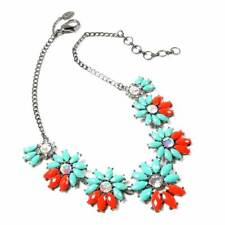 Amrita Singh Turquoise/Coral Daisy Necklace - New & Boxed