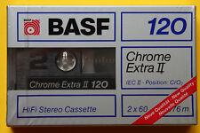 1x BASF CHROME EXTRA II 120 LONG PLAY Cassette Tape 1988 + OVP + SEALED +