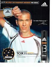 Publicité Advertising 127  2006  Adidas déodorant spray Zinedine Zidane