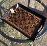 Pier One 1 Floral Foil Wooden Ottoman Chest Top Serving Tray Boho Colorful Rare
