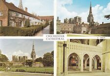 CHICHESTER - CATHEDRAL MULTIVIEW COLOUR  POSTCARD
