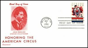 USA FDC 1966 Honouring American Circus John Ringling First Day Cover