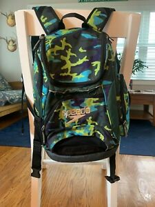 Speedo teamster swim bag - small size (25L) - used - green/blue/purple camo