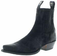 Sendra Boots 1692 Serraje Negro Herren Cowboystiefel Westernstiefelette Schwarz