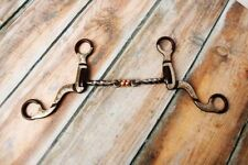"""Showman BROWN Steel Bit w/ 5"""" Twisted Mouth & Copper Rollers!! NEW HORSE TACK!!"""