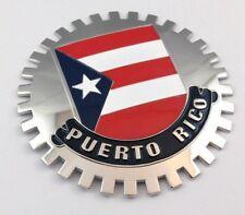 Puerto Rico car truck grill badge chrome metal grill mount emblem