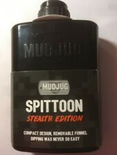 [1X] NEW Black STEALTH MudJug Portable FLASK Chewing Tobacco Spittoon
