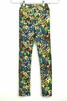 LuLaRoe Girls Leggings Multi Colored Casual Everyday Stretch Summer Size L/XL