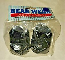"""BEAR WARE - 12"""" BEAR or DOLL CLOTHES - Black Shoes -  NEW"""