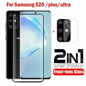 For Samsung Galaxy S20 FE 5G S20 S20+ Ultra Case Tempered Glass Screen Protector