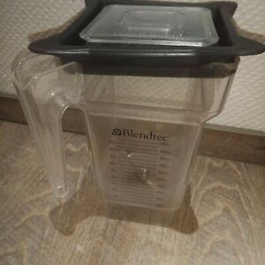 Blendtec Mixbehälter FourSide Jar 2 Liter Mixer Zubehör defekt mit Deckel 32oz