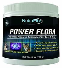 POWER FLORA - Probiotics for Dogs and Cats with 9 Live Strains - Dog Probiotics
