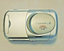 Olympus Camedia D-390 2.0MP Digital Camera Silver Works Perfectly! FREE S/H!