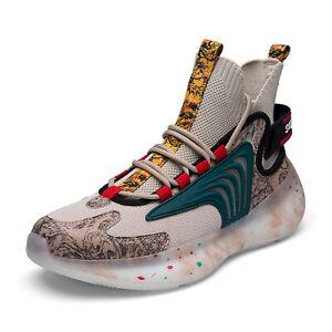 MFCT Men's Streetwear Alien Cyberpunk High Top Sock Sneakers Breathable Shoes