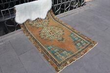 """Vintage Handmade Turkish Oushak Wool Red Anatolia Area Rug 86""""x38"""""""