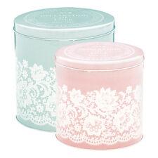 GreenGate Lacey Liva Set Of 2 Circular Tin Boxes