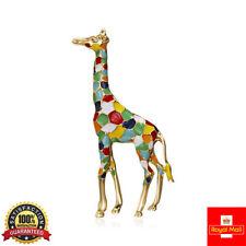 MULTI-COLOUR Tall Enamel Giraffe Brooch Pin Animal Badge Lapel Pin Men Women Kid