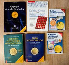 6x Fachbuch Handbuch Münzen sammeln Münzfachbuch Nachschlagewerke Euro DM