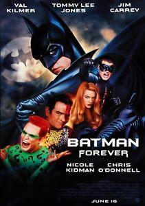 Batman Forever Klassisch 90's Vintage Filmplakat - Wand Film Kunstdruck Joker