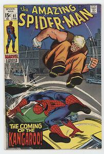 Amazing Spider-Man 81 Marvel 1970 VF 1st Kangaroo Stan Lee John Romita