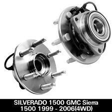 2 Front Wheel Bearing Hubs for 99-06 Chevy Tahoe Silverado Sierra 1500 Yukon 4Wd