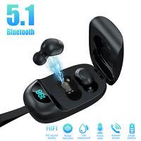 TWS Bluetooth 5.1 Earbuds Wireless Headphone Headset Noise Cancelling Waterproof