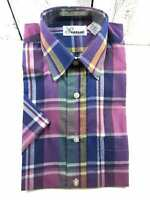 Men's Small Haband Mens S Button Down Shirt Purple Patriotic Quality Comfort NWT