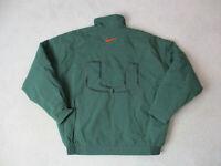 VINTAGE Nike Miami Hurricanes Jacket Adult Large Green Orange UM Football 90s *