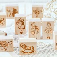 Retro Coffee Cup Rubber Wood Stamp Handmade Scrapbooking Craft DIY Paper T1Z5