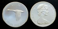 Canada 1967 Centennial Proof Like Canadian Goose Silver Dollar!!