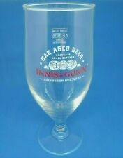 2 new innis & gunn pub bar home beer stemmed goblet half pint glass man cave *