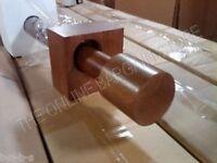 Pottery Barn West Elm Oversized Wood Curtain Rod CYLINDER Finials 8' Acorn Honey