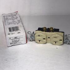Pass & Seymour Legrand 5890-I Ivory Combination Receptacle 20A Spec Grade NEW
