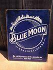 Blue Moon Beer Brewing Company 1995 Metal Sign Tin Vintage Garage Bar Rustic