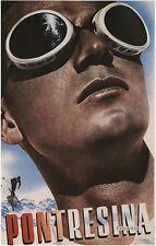 Pontresina, 1936 Vintage Travel & Transportation Advertising CANVAS 24x36 in.