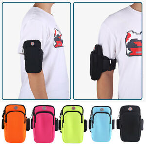 Running Arm Band Leather Case Bag For iphone Mobile Phone Holder Pouch Belt