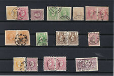 GREECE..1898-1906 THE 9 ATHENS POST OFFICES CANCELS ON OLYMPIC & HERMES HEADS