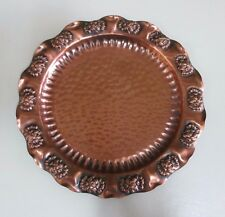 Gregorian Solid Copper Hammered Plate - Wall Hanging - United States - 1960s