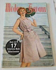 Magazine Modes & Travaux Juin 1958