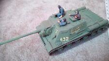 Tanque Ruso ISU-122 destructor 1/35 construido/hecho B con figuras Repuestos Reparación