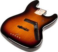 Fender Mexico/Mexican Jazz/J-Bass Brown Sunburst Alder Bass Body - 099-8008-732